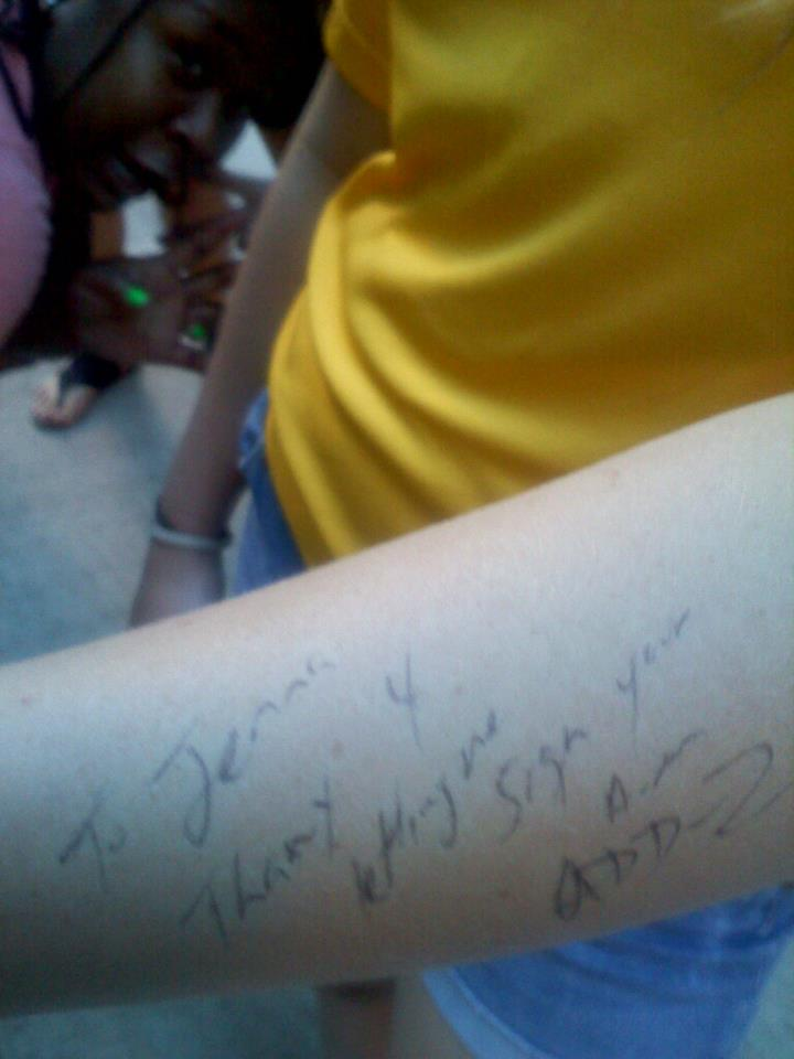 Signing the arm